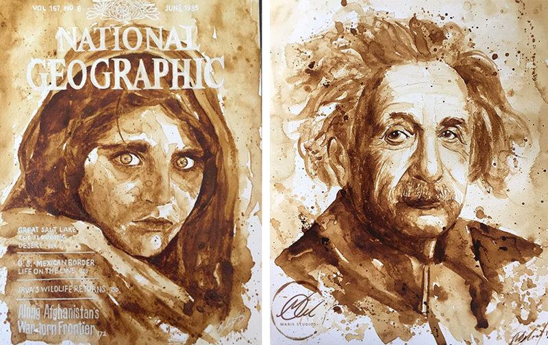Afgan kızı ile Einstein - Maria Aristidou