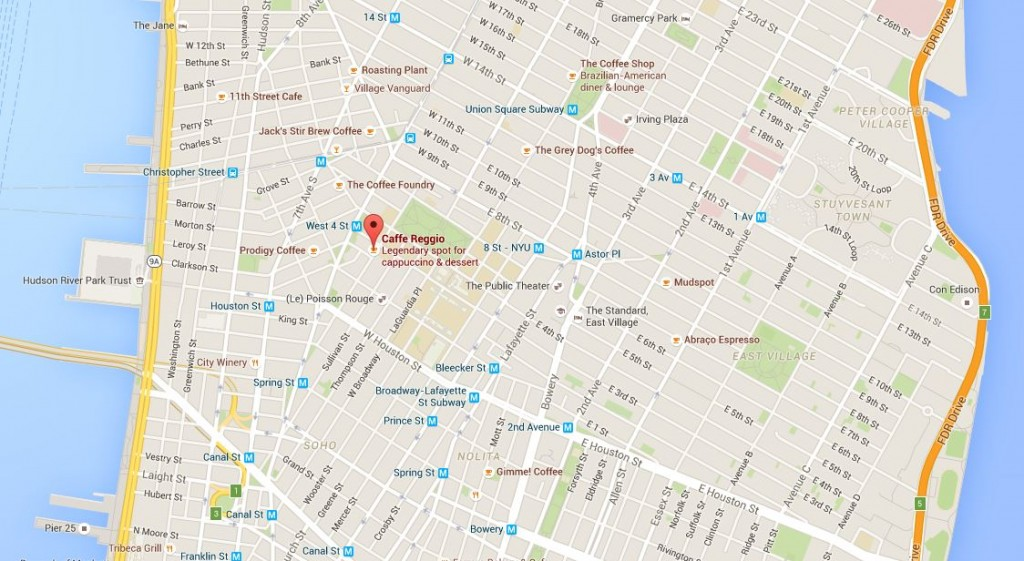 New York'un vazgeçilmezi: Caffe Reggio 6