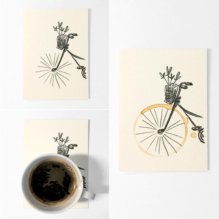 Kahve lekesi kağıtla birleşince... 1