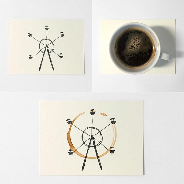 Kahve lekesi kağıtla birleşince... 2