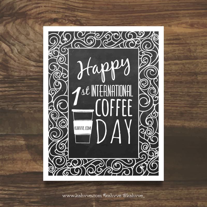 Bugün 1 Ekim 2015, günlerden kahve! 2